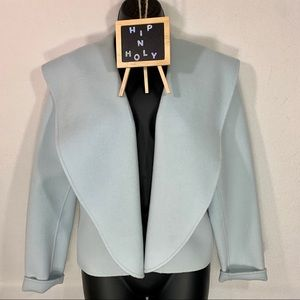 DANA BUCHMAN 100% WOOL LIGHT BLUE BLAZER/JACKET